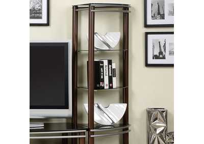Silver Creek Brown & Silver Pier Shelves (1 Pair)