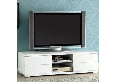 "Image for Cerro 59"" White Lacquer TV Console"
