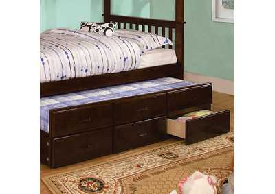 Image for University Dark Walnut Twin Trundle w/3 Drawers