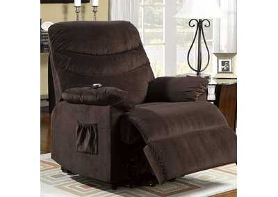Image for Perth Cocoa Brown Recliner