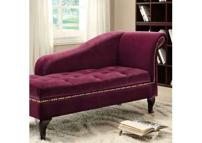 Image for Lakeport Red Violet Storage Chaise w/Nailhead Trim