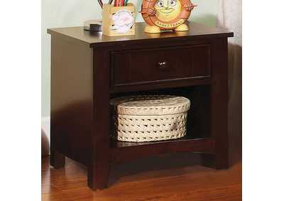 Omnus Dark Walnut Night Stand,Furniture of America
