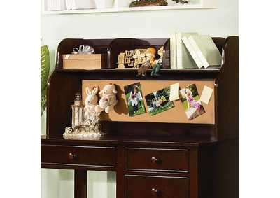 Omnus Dark Walnut Desk Hutch