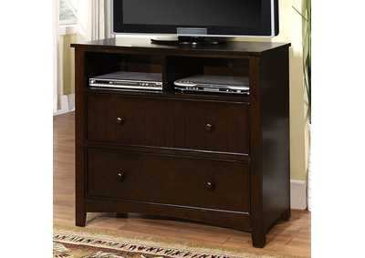 Omnus Dark Walnut Media Chest,Furniture of America
