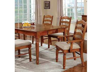 "Image for Spring Creek Oak Dining Table w/14"" Leaf"