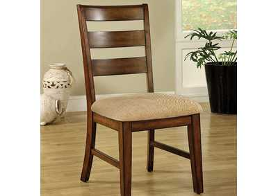 Image for Priscilla Antique Oak Side Chair (Set of 2)