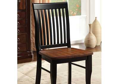 Image for Earlham Black & Oak Side Chair (Set of 2)
