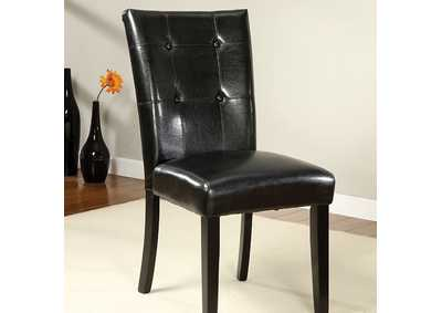 Image for Boulder Black Parson Chair [Set of 2]