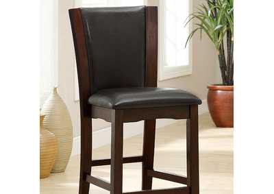 Image for Manhattan lll Espresso Leatherette Counter Chair (Set of 2)