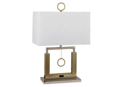 Jessica Champagne Table Lamp