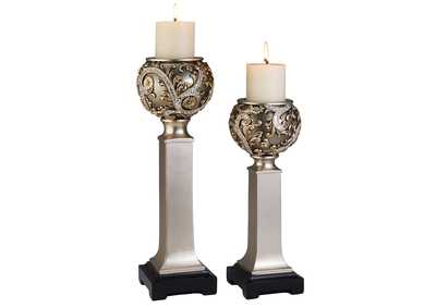 Estelle Champagne Candle Holder Set [Set of 4]