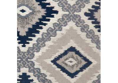 "Image for Deamund Blue Diamond Pattern Pillow 18 x 18"" (Set of 2)"