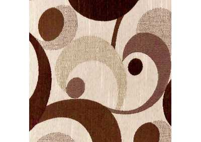 Image for Swoosh Brown Motion Pattern Pillow, 22 x 22' (Set of 2)