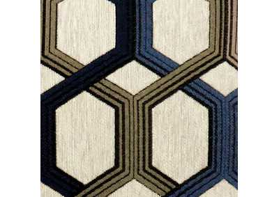 "Image for Comney Blue Geometric Pattern Pillow 18 x 18"" (Set of 2)"