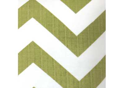 Image for Zoe Green Chevron Pattern Pillow, 22 x 22' (Set of 2)