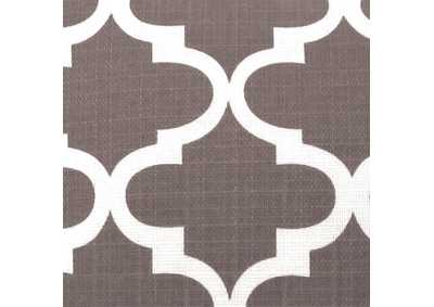 Image for Xia Gray Quatrefoil Pattern Pillow, 22 x 22' (Set of 2)