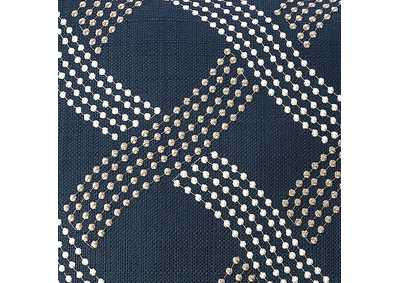 Cici Navy Throw Pillow