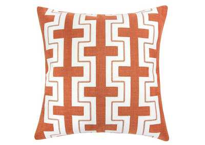 Kari Orange Accent Pillow (Set of 2)
