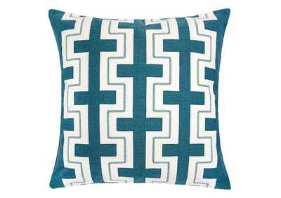 Kari Teal Accent Pillow