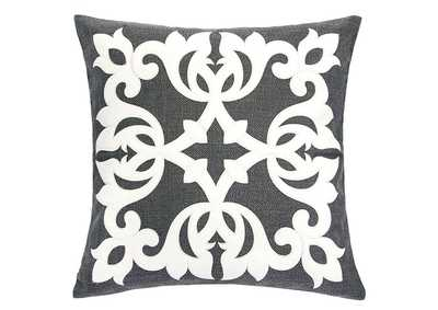 Trudy Gray Accent Pillow