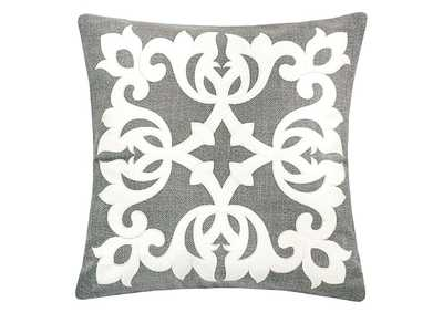 Trudy Silver Accent Pillow