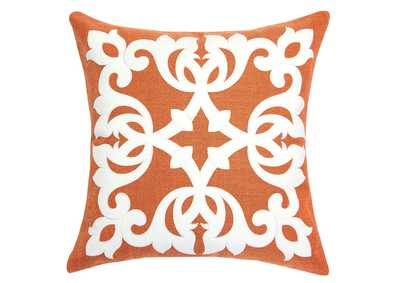 Trudy Orange Accent Pillow