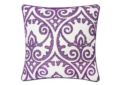 Jorja Purple Accent Pillow