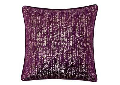 Belle Purple Accent Pillow (Set of 2)