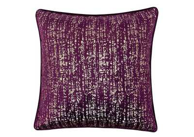 Belle Purple Accent Pillow