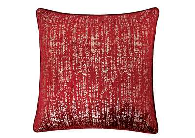 Belle Red Accent Pillow