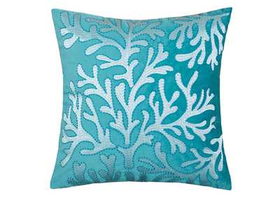 June Teal Accent Pillow