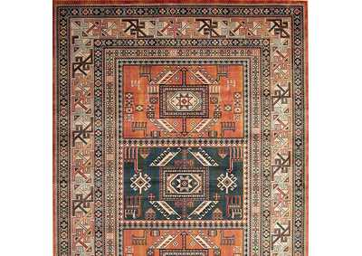 Mortsel Orange Area Rug