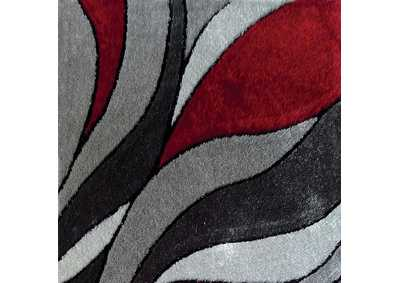 Caledon Gray/Red Area Rug