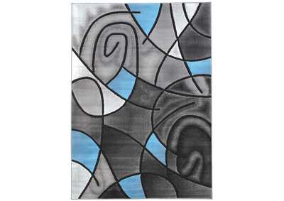 Sivas Charcoal Blue Area Rug