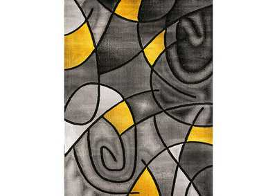 Sivas Charcoal Yellow Area Rug