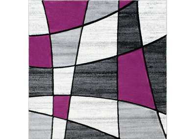 Niksar Gray/Purple Area Rug
