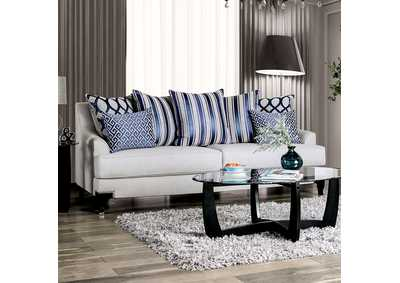Image for Sisseton White Stationary Sofa