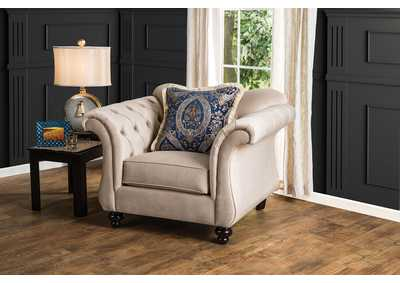 Image for Antoinette Light Mocha Chair w/Pillows
