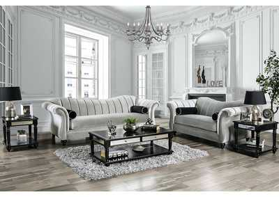 Marvin Pewter Loveseat,Furniture of America