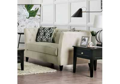 Monaghan Beige Loveseat,Furniture of America