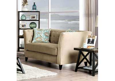 Monaghan Cream Loveseat,Furniture of America