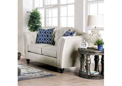 Porth Ivory Loveseat,Furniture of America