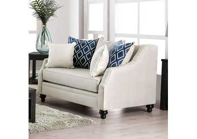 Nefyn Ivory Loveseat,Furniture of America