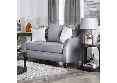 Nefyn Gray Loveseat,Furniture of America
