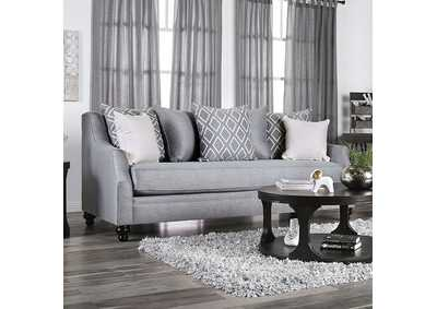 Nefyn Gray Stationary Sofa,Furniture of America