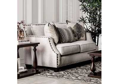 Cornelia Beige Loveseat,Furniture of America