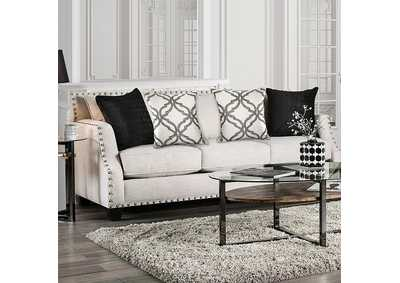 Phoibe Ivory Sofa,Furniture of America