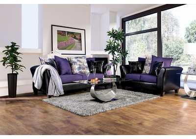 Image for Kaelyn Black/Purple Sofa