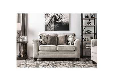 Aleah Light Gray Loveseat