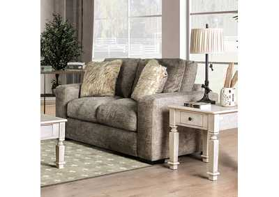 Crane Brown Loveseat